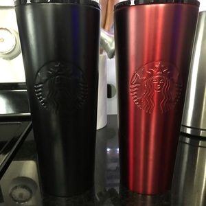 Lot of 2: Starbucks stainless steel tumblers 24oz